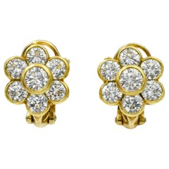 Van Cleef & Arpels Diamond Cluster Earrings