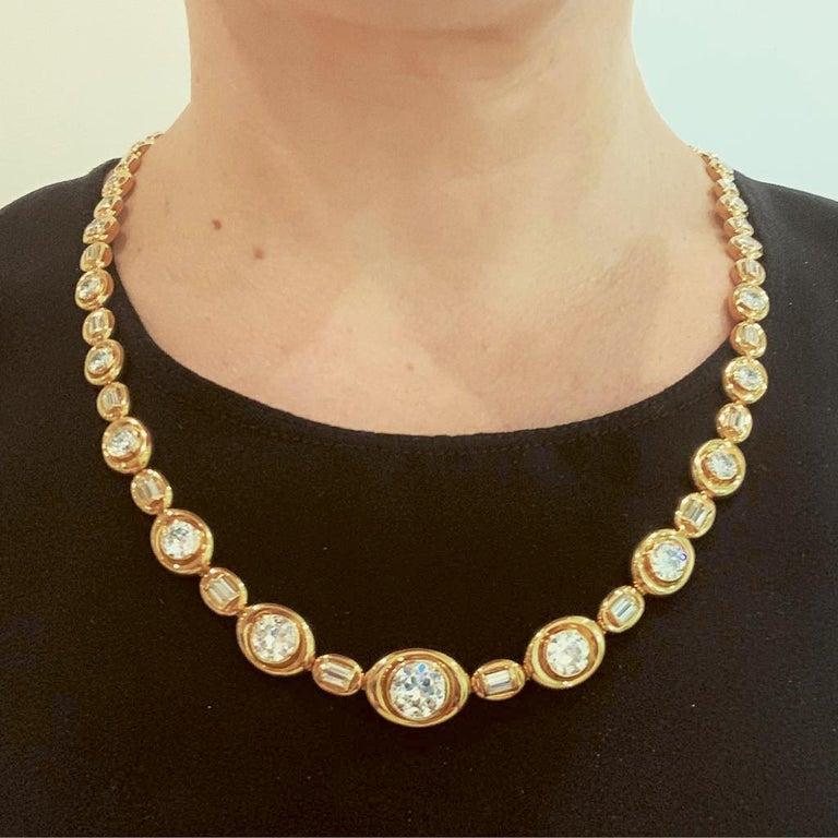 Van Cleef & Arpels Diamond Convertible Necklace Suite For Sale 2