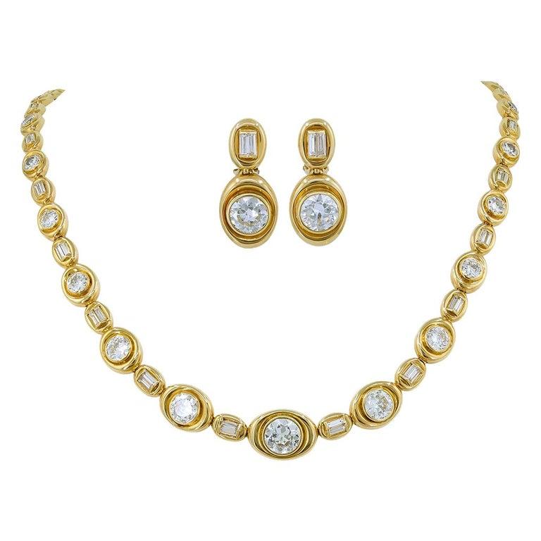 Van Cleef & Arpels Diamond Convertible Necklace Suite For Sale