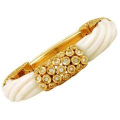 Van Cleef & Arpels Diamond, Coral Bracelet
