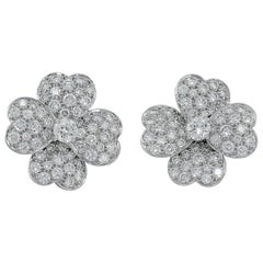 Van Cleef & Arpels Cosmos Diamond Pave Earrings