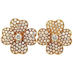 Van Cleef & Arpels Diamond Cosmos Earrings, Large Model