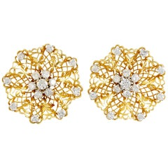 Van Cleef & Arpels Diamond Dentelle Ear Clips