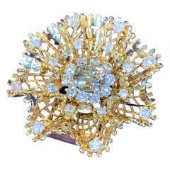Van Cleef & Arpels Diamond Dentelle Flower Brooch