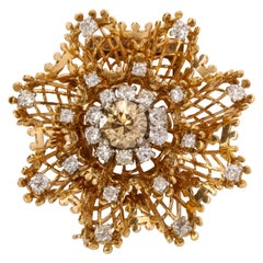 Van Cleef & Arpels Diamond Dentelle Flower Brooch