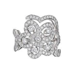 """Van Cleef & Arpels Diamond """"Dentelle"""" Ring"""