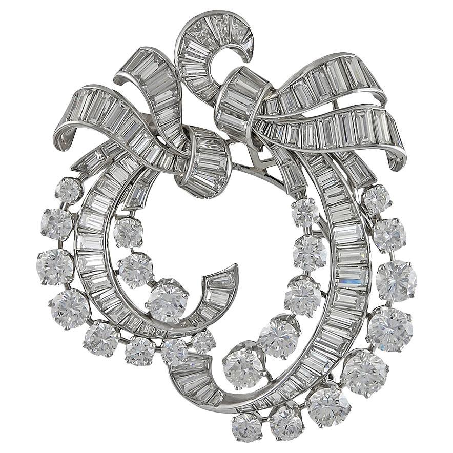 Van Cleef & Arpels Diamond Double-Clip Brooch