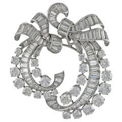 Van Cleef & Arpels Diamond Double-Clip Brooch