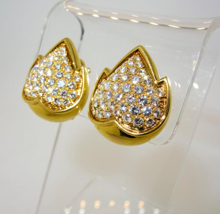 Contemporary Van Cleef & Arpels Diamond Earrings For Sale
