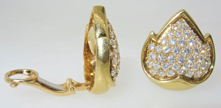 Van Cleef & Arpels Diamond Earrings In Excellent Condition For Sale In Aspen, CO