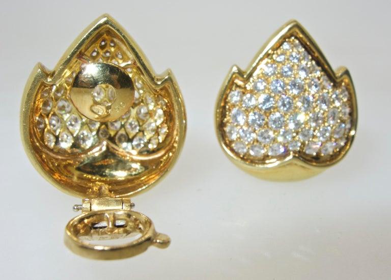 Women's or Men's Van Cleef & Arpels Diamond Earrings For Sale