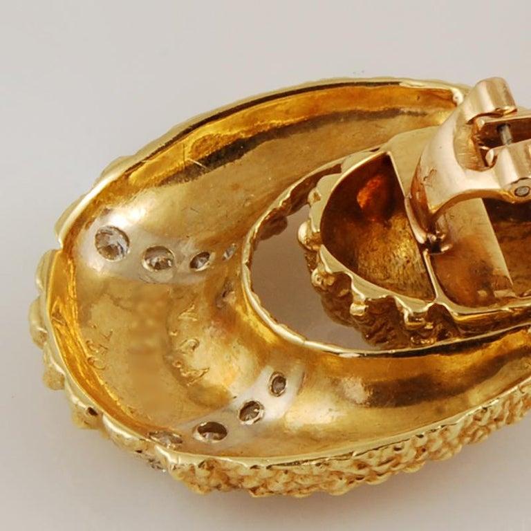 Van Cleef & Arpels Diamond Earrings For Sale 1