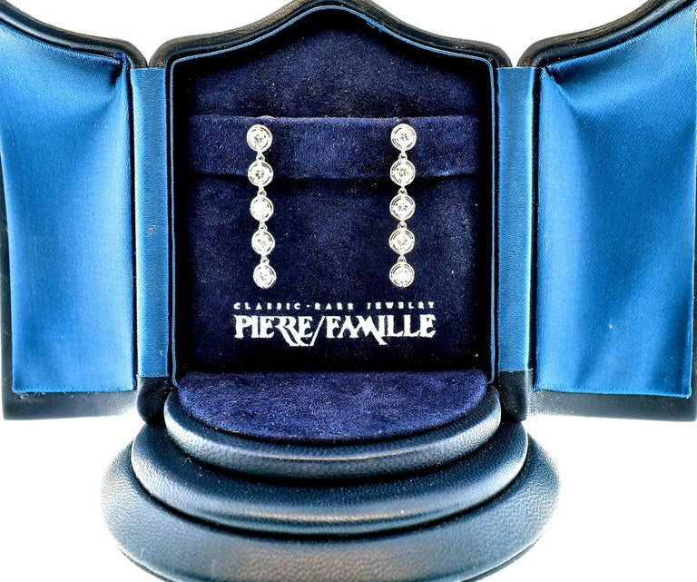 Contemporary Van Cleef & Arpels Diamond Earrings, French For Sale