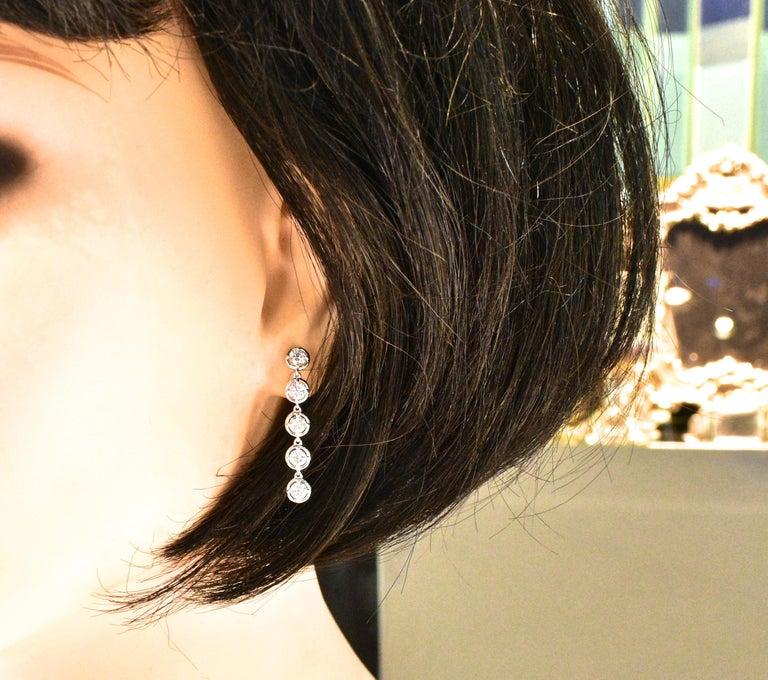 Women's or Men's Van Cleef & Arpels Diamond Earrings, French For Sale