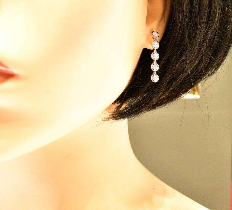 Van Cleef & Arpels Diamond Earrings, French For Sale 1