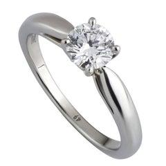 Van Cleef & Arpels Diamond Engagement Solitaire Ring .50 Carat GIA Certified