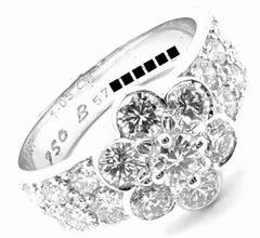 Van Cleef & Arpels Diamond Fleurette Flower White Gold Ring