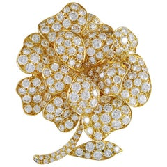 Van Cleef & Arpels Diamond Flower Brooch