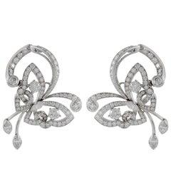 Van Cleef & Arpels Diamond Flying Butterfly Earrings