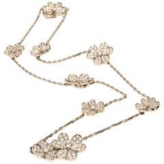 Van Cleef & Arpels Diamond Frivole 9 Motif 18 Karat White Gold
