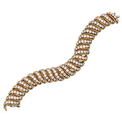 Van Cleef & Arpels Diamond Gold Bracelet from the Collection of Ava Gardner