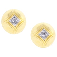 Van Cleef & Arpels Diamond Gold Dome Earrings