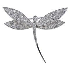 Van Cleef & Arpels Diamond Gold Dragonfly Brooch