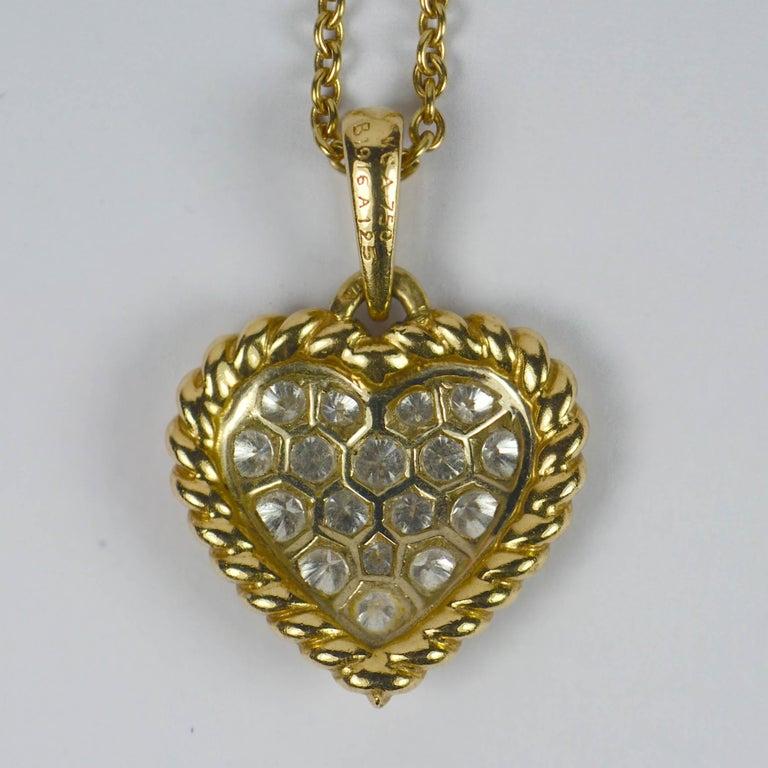 Women's or Men's Van Cleef & Arpels Diamond Gold Heart Pendant For Sale