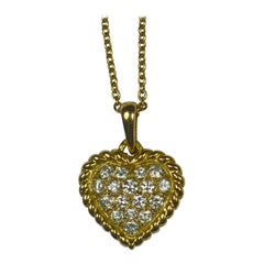 Van Cleef & Arpels Diamond Gold Heart Pendant