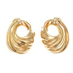 Van Cleef & Arpels Diamant Gold Kreolen