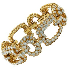 Van Cleef & Arpels Diamond Gold Link Bracelet
