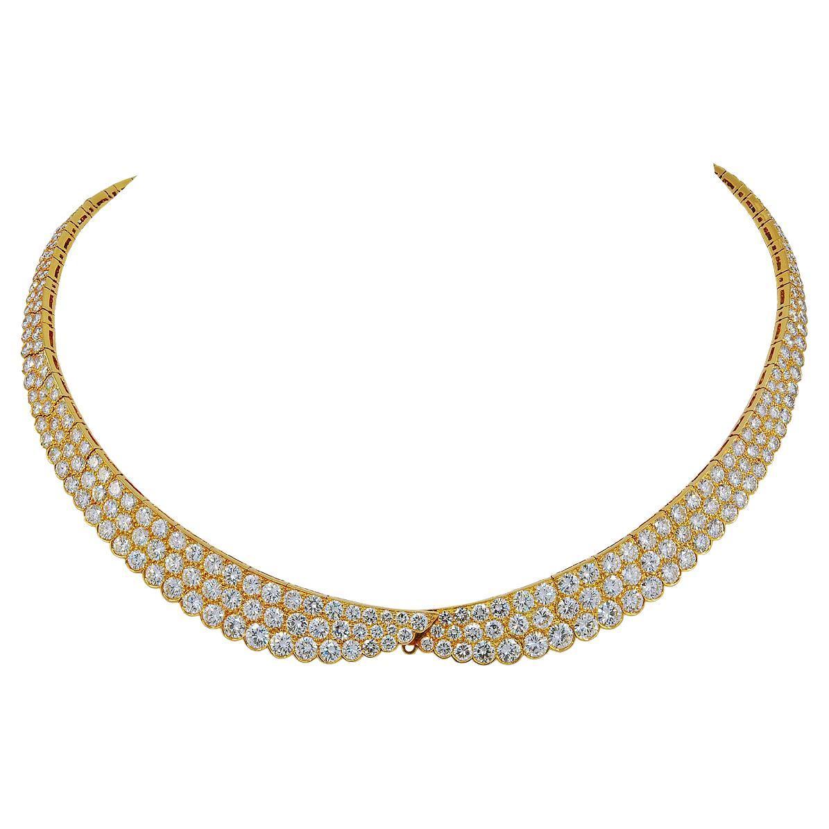 Van Cleef & Arpels Diamond Gold Necklace