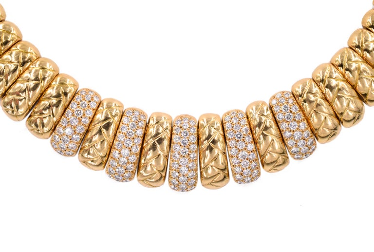 Artist Van Cleef & Arpels Diamond and Gold Necklace For Sale