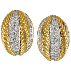 Van Cleef & Arpels Diamond Gold Rope Earrings