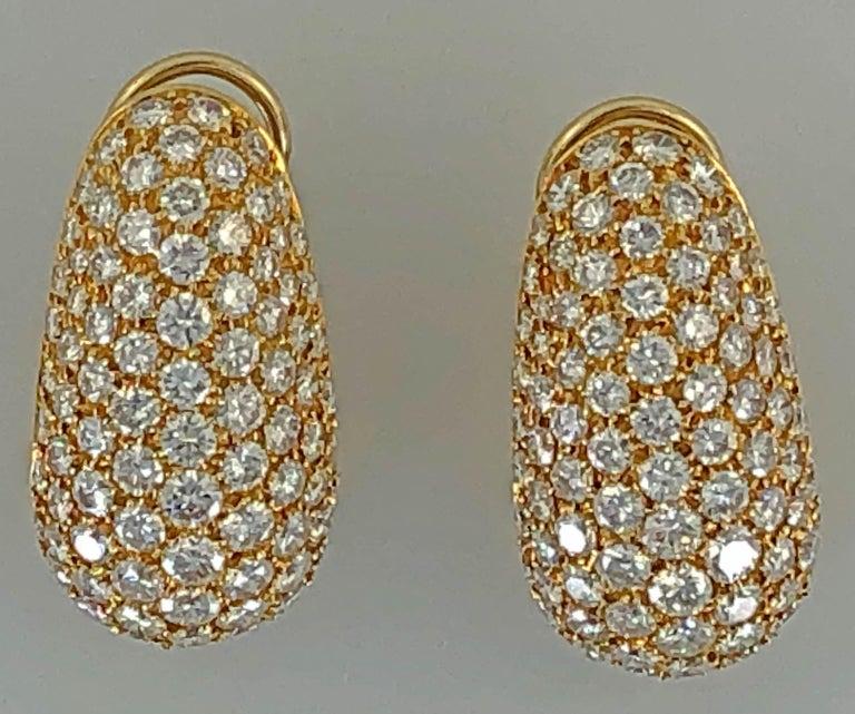 Van Cleef & Arpels Diamond Huggie Earrings For Sale 1