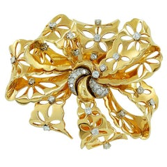 Van Cleef & Arpels Diamond Large Bow Brooch