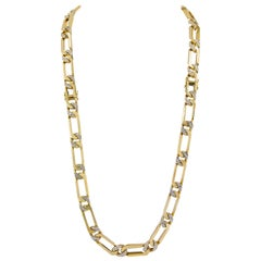 Van Cleef & Arpels Diamond Yellow and White Gold Convertible Link Necklace