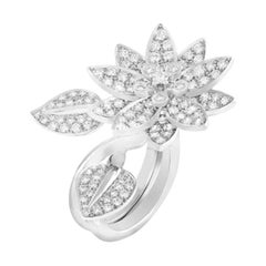 Van Cleef & Arpels Diamond Lotus Between the Finger Ring