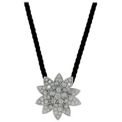 Van Cleef & Arpels Diamond Lotus Necklace