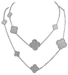 Van Cleef & Arpels Diamond Magic Alhambra Necklace