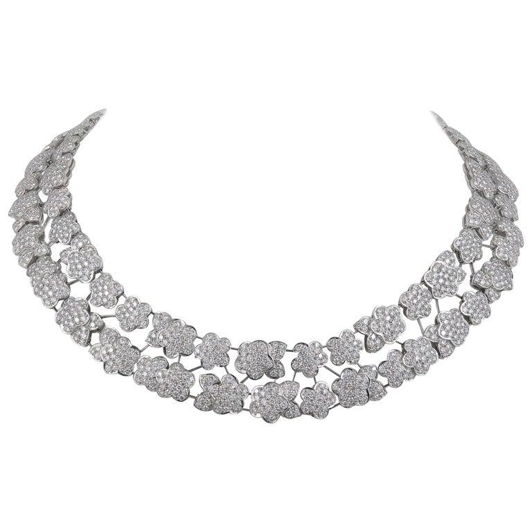 Van Cleef & Arpels Diamond Melusine Necklace, 36 Carat For Sale