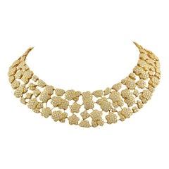 "Van Cleef & Arpels Diamond Yellow Gold ""Melusine"" Necklace"