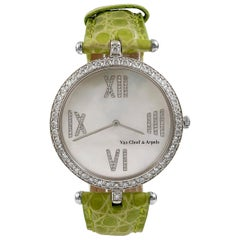 Van Cleef & Arpels Diamant, Perlmutt Ziffernblatt Uhr