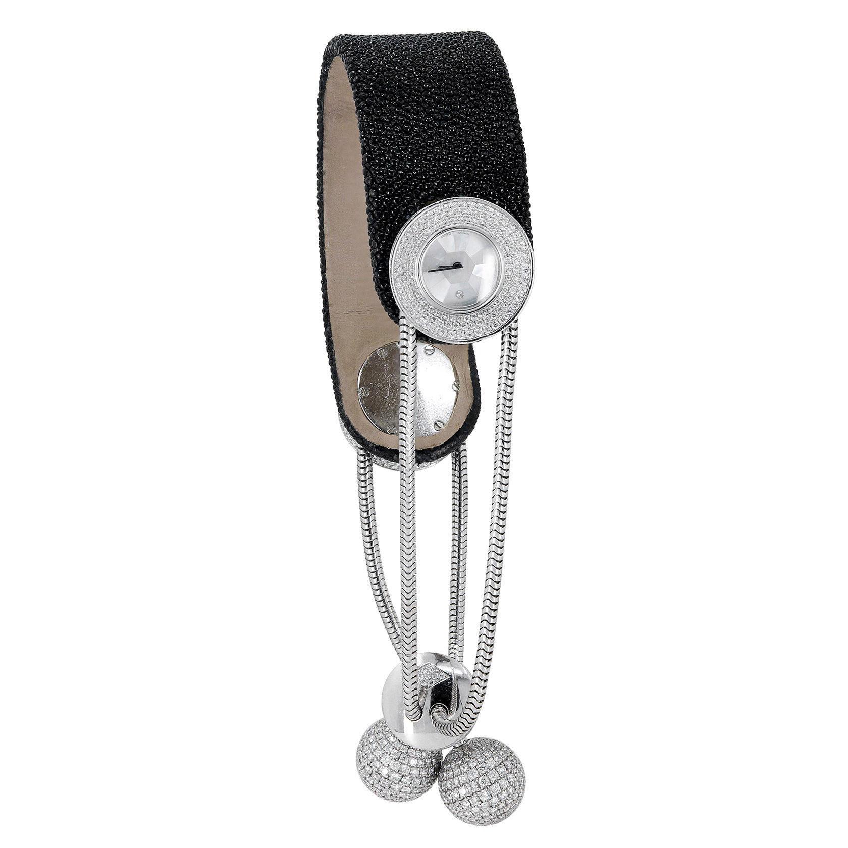 Van Cleef & Arpels Diamond Mother of Pearl Ludo Pampilles Quartz Wristwatch