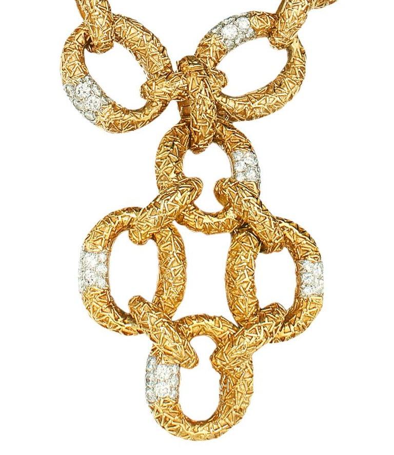 Round Cut Van Cleef & Arpels Diamond Necklace-Bracelet For Sale