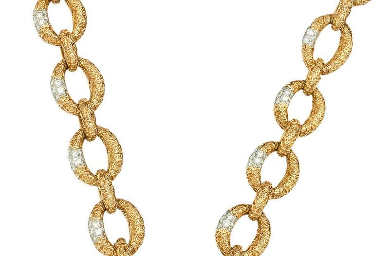 Women's Van Cleef & Arpels Diamond Necklace-Bracelet For Sale