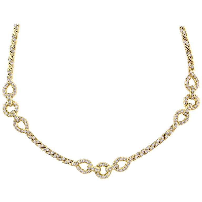 Van Cleef & Arpels Diamond Necklace For Sale