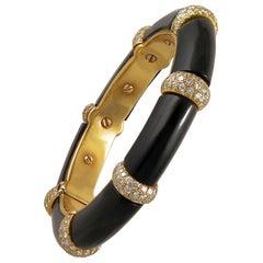 Van Cleef & Arpels Diamond, Onyx Bracelet