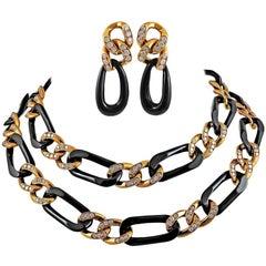 Van Cleef & Arpels Diamond, Onyx Demi-Parure