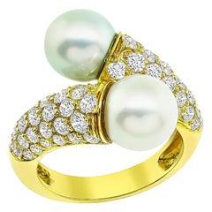 Van Cleef & Arpels Diamond Pearl Ring